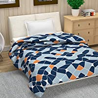 Divine Casa Natty Geometric Polyester Single Blanket -(Multicolor) 140 X 210 cm