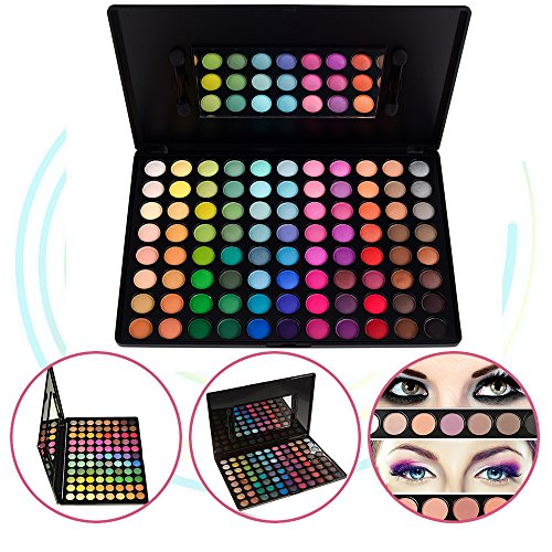 KRABICE Lidschatten-Palette, kühne und helle Sammlung, lebendige, Lidschatten-Augenschatten-Paletten-Make-up-Kit-Set (88 Lidschatten-Palette)# (Up Für Make Kits Mädchen)