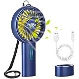 Tvird Handheld Fan Portable, Hand Fan Rechargeable Battery Operated Mini Fan USB Fan Electric Fan Desk fan Hand Held Fans for