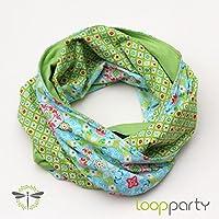 Loop-Schal Damen, Jersey & Baumwolle, lind-grün, HANDMADE