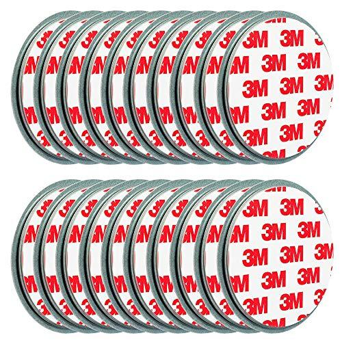 ECENCE 20x Rauchmelder-Befestigung Magnet Halter-ung Magnethalter-ung Magnet-Pad Ø 70mm 45020108020