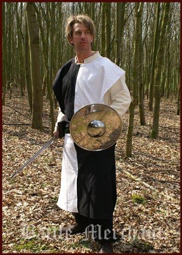 Mittelalterlicher Wappenrock Schachbrett, div. Farben - Waffenrock - Ritterhemd Farbe schwarz/weiß (Kleidung-rüstung Mittelalterliche)