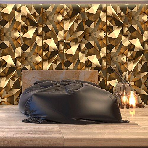 murando - PURO TAPETE - Realistische Tapete ohne Rapport und Versatz - Kein sich wiederholendes Muster - 10m Vlies Tapetenrolle - Wandtapete - modern design - Fototapete - Abstrakt 3D gold f-C-0159-j-a