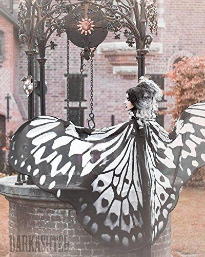 Schmetterling Flügel Nymphe Mantel (Nymphe Flügel Kostüme)