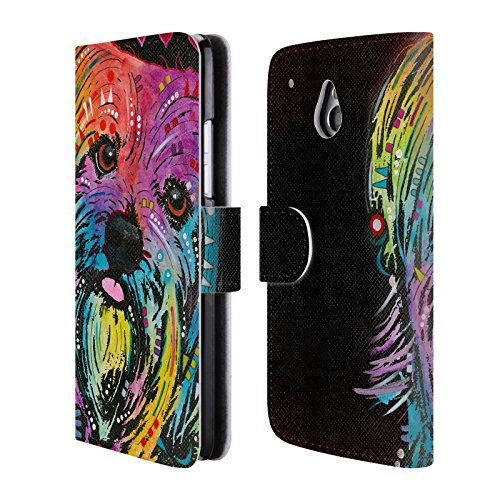 Ufficiale Dean Russo Yorkie Cani Cover a portafoglio in pelle per HTC One mini