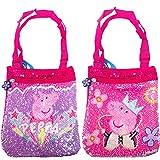Peppa Pig 509908, Borsa con paillettes, 23 x 20 cm, per bambine, rosa, 23 x 20 cm