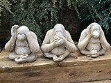 """Country Garden Ornaments Steinfiguren, 3weise Affen """"nicht sehen, nicht hören und nicht sprechen"""""""