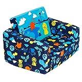 MallBoo Sillón infantil, sofá cama, para niños, tapizado, reclinable