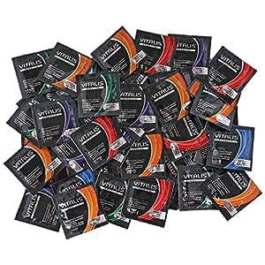 100 VITALIS Premium Kondome - Fruit & Colour Mix - 9 verschiedene Fruchtaromen - hier macht Naschen Spass!