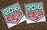 LE MANS 24 STUNDEN 2016 WINDSCHUTZSCHEIBE sticker x2 für INNENGLAS