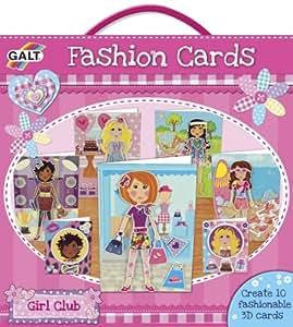 galt girl club fashion cards cartes de modes kit 10 cartes d corer import royaume uni. Black Bedroom Furniture Sets. Home Design Ideas