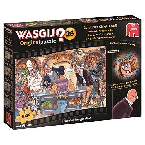 Preisvergleich Produktbild Jumbo Spiele 19150 - Wasgij Original 26: Die große Promi-Kochshow 1000 Teile, Erwachsenen-Puzzles