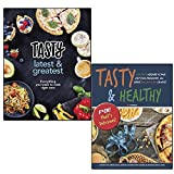 tasty latest and greatest everything you want to cook right now [hardcover] and tasty & healthy f*ck that's delicious 2 books collection set - the official cookbook from buzzfeed's tasty and proper tasty, healthier versions of your fast food favourites all under 300, 400 & 500 calories