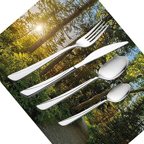 30-teiliges Besteckset, Landschaftsgeschirr Besteckset aus Edelstahl für 6 Personen Einschließlich Messer, Gabeln, Löffel, Teelöffel und Platzdeckchen, Nationalpark im kap-bretonischen Hochland Ca. - Breton-platz