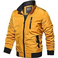 Sunward Men's Autumn Winter Casual Outwear Pure Color Zipper Breathable Jacket Coat