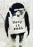 Banksy Photo keep it real monkey wall Print A4 10x8 Graffiti Grafitti Street Art Poster