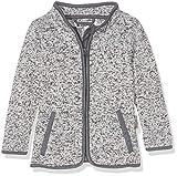Playshoes Baby-Mädchen Strickfleece-Jacke mit Kontrastnähten, Oeko-Tex Standard 100 Grau (Grau 33), 80