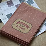 East of India Paper Strung Bags 'Handmade With Love' x 40 Craft Shop / Stall by East of India
