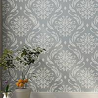 Blühende Lilien dekorative Wandschablone - Schablonen für Wände - Maler Schablonen