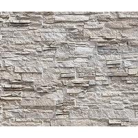 Decomonkey | Fototapete Steinwand Stein 400x280 Cm XL | Tapete | Wandbild |  Wandbild | Bild