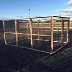 4wire DOG RUN ANIMAL ENCLOSURE 12ft x 8ft & 6ft high 16G Wire Chicken Rabbits Dogs Cats Birds Puppy Fox Proof 61KzN29x10L