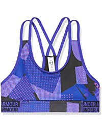 Under Armour Heat Gear novità reggiseno sportivo, ragazza, Heat Gear Novelty, Constellation Purple, L