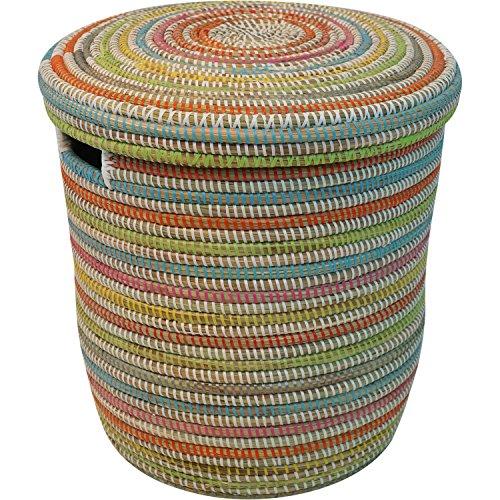 EA Déco Naturel & Design PLG2MUL Salandere PM Panier Plastique/Paille Multicolore 40 x 40 x 40 cm