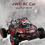 Qulista Radio Control Geländewagen 20km/h 1:18 RC Ferngesteuertes Fahrzeug Offroad 4WD 2.4Ghz, RC Auto Sport Rennwagen für Drinnen und Draußen Inkl. 2 Batterien
