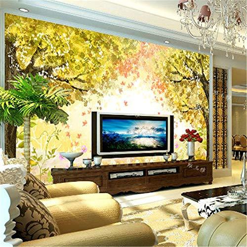 Sucsaistat Landschaft Wald Tapete Wandbild Desktop 3D Wallpaper Für Wand 3D Wallpaper Hintergrund Feuchtigkeitsfest Für Wohnzimmer Schlafzimmer, 300 * 210Cm