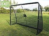 EXIT SET Finta Goal 41.07.10.00 + 45.80.05.00 / Finta Fußballtor inkl. Torwand + Ball / Maße - Tor: 300cm x 200cm x 90cm + Ball Größe 5