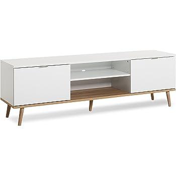tv board skandinavisches design b h t ca 160 x 50 x 40 cm lowboard mit massivholzf e. Black Bedroom Furniture Sets. Home Design Ideas