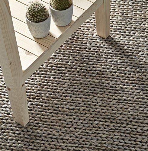 Creative Carpets Alfombra, Yute, Gris Claro, 80 X 120