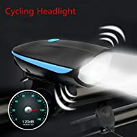 FASTPED Bike Horn and Light 140 DB with Light 3 Modes Super Bright 250 Lumens