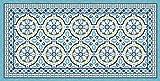 vilber Große Chef Tanger Teppich, Vinyl, blau, 75x 180x 0.2cm