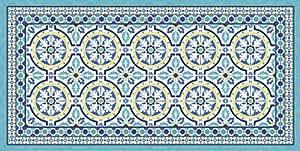 vilber Gran Chef Tanger Tappeto, vinile, blu, 75x 180x 0.2cm