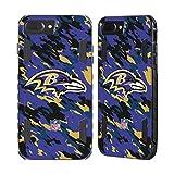 Head Case Designs Offizielle NFL Camou Baltimore Ravens Logo Schwarz Evolution Hülle für Apple iPhone 7 Plus/iPhone 8 Plus