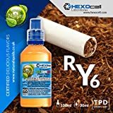 E LIQUID PARA VAPEAR - 30ml RY6 (Mezcla de Cml y Mboro Tabacos) Shake n Vape Liquido para Cigarrillo Electronico, Shake and Vape E-Liquido sin Nicotina