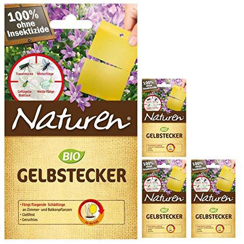 4 x 15er-Pack Naturen Bio Gelbstecker insektizidfrei - Natur-pack