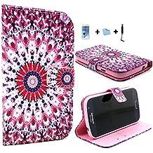 E-Max 4 en 1 Funda Carcasa Cuero Tapa Case Cover Para Samsung Galaxy grand NEO i9060/i9082/ Galaxy Grand Neo Plus i9060i + el protector de la película + Stylus, D07