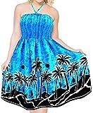 Bedecken Maxi Halter Neck kurzen Schlauch Badeanzug Strand tragen Badebekleidung Kleid blau up