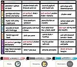 Tableau blanc planning repas magnétique effaçable à sec – Tableau Menu taille A3 Pour Frigo par Plan Smart * Version Couleur * – Bonus: 3 marqueurs effaçable à sec avec gomme inclus