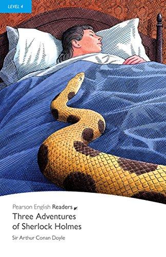 Three Adventures of Sherlock Holmes - Englisch-Lektüre für Fortgeschrittene ab B1 (Pearson Readers - Level 4)