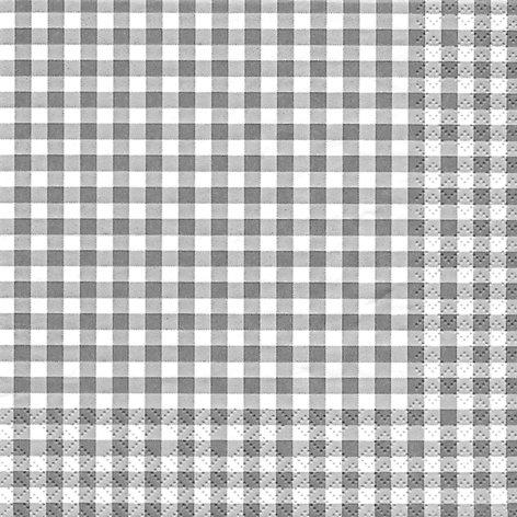 20 Servietten Karo grau / kariert / zeitlos 33x33cm