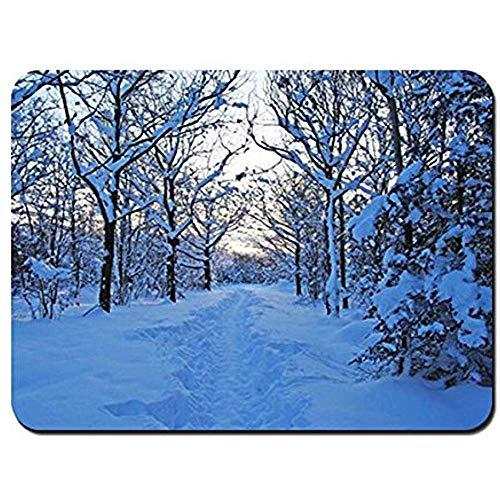 Mouse Pad Morgen Winter Schnee Schneeverwehungen Junges Wachstum Schweden Mauspad Mauspad Mauspad Spielmatte Mauspads 25X30Cm