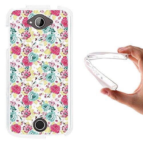 WoowCase Acer Liquid Z530 Hülle, Handyhülle Silikon für [ Acer Liquid Z530 ] Multifarbige Blumen Handytasche Handy Cover Case Schutzhülle Flexible TPU - Transparent