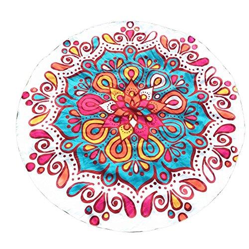 tapiz hippie, arte bohemio, hippie, étnico, decoración de dormitorio, alfombrilla para yoga, toalla para playa, 147*147cm, algodón LMMVP (147*147cm, B)