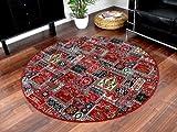 Orient Teppich Empire Rot Rund in 7 Größen, Größe:240 cm Rund