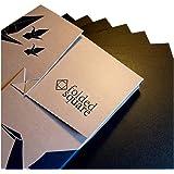 Schwarz Origamipapier | 100 Blatt, 15cm Quadrat | Pantone Process Schwarz