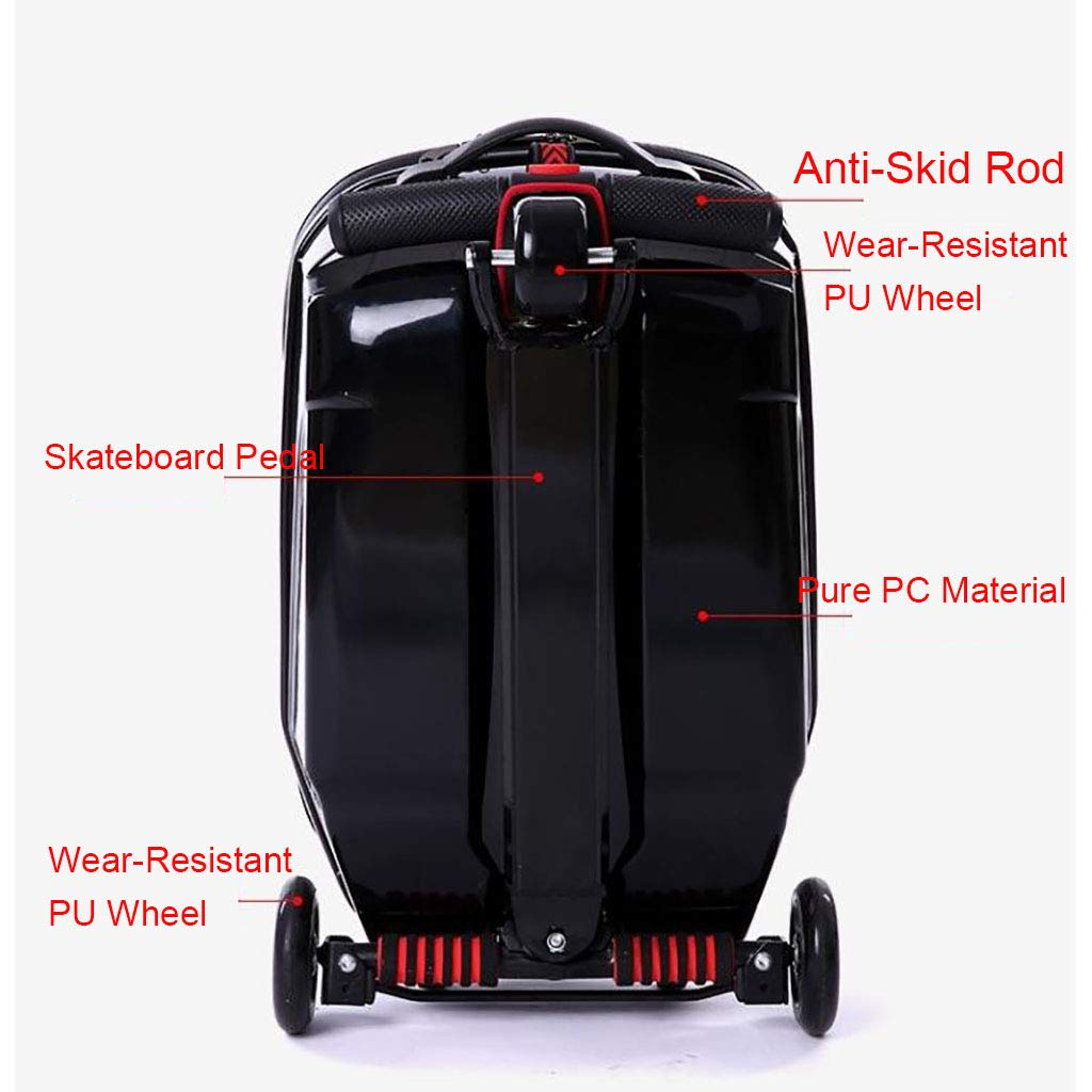 59128e6dfeac Luggage Scooter, ABS Hard Shell Travel Children's Luggage Scooters 3 Wheels  Suitcase for Outdoor Travelling - Luggage and Travel Accessories