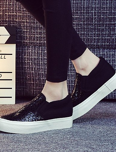 ZQ gyht Scarpe Donna - Mocassini / Senza lacci - Tempo libero / Casual - Plateau / Creepers / Comoda / Punta arrotondata - Plateau - Di corda - , golden-us8 / eu39 / uk6 / cn39 , golden-us8 / eu39 / u black-us8 / eu39 / uk6 / cn39